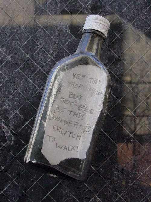 Message in a Bottle. As found in Philadelphia, PA, ca. 2006