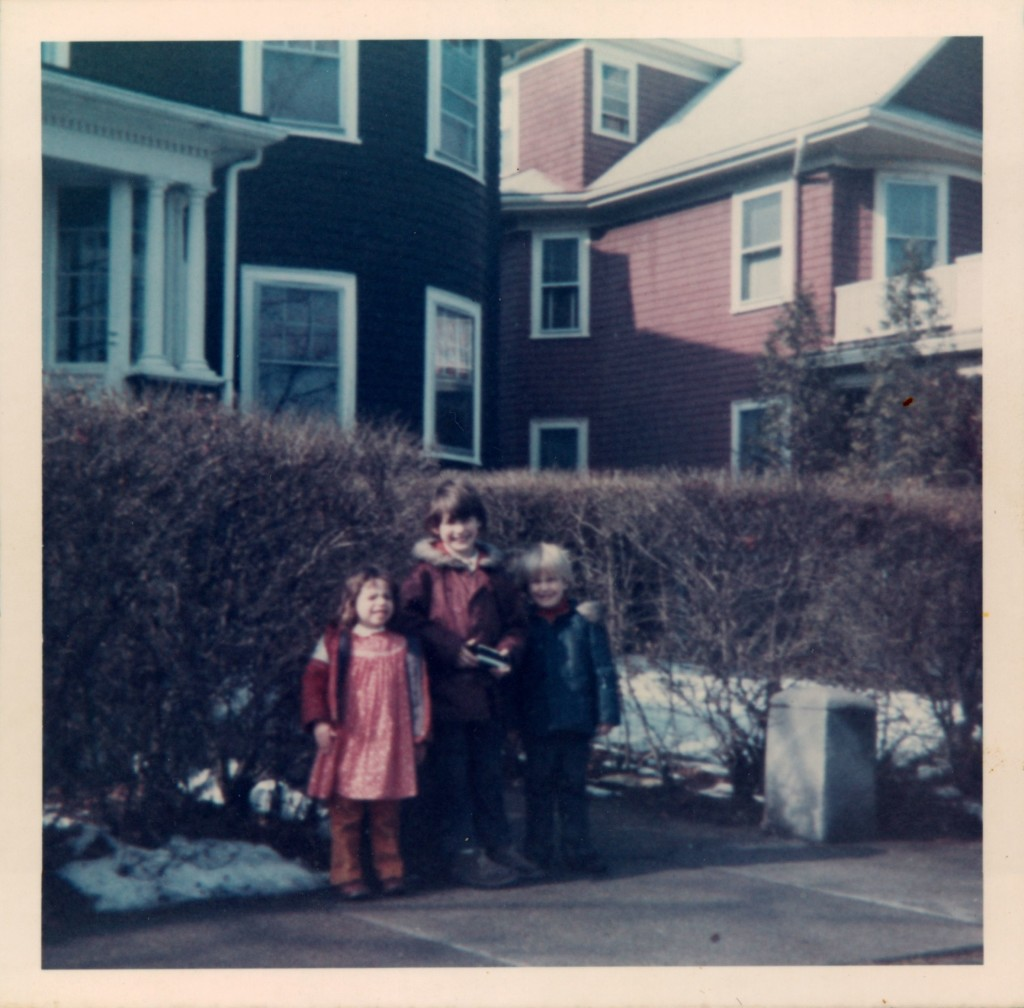 My brother, my sister, and I on Bourneside Street, ca. 1975